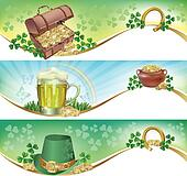 St. Patricks Day horizontal banners