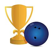 Gold Trophy Cup Bowling
