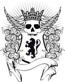 heraldic coat of arms crest skull1