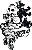 heraldic coat of arms crest skull9