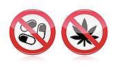 Addiction problem - no drugs sign