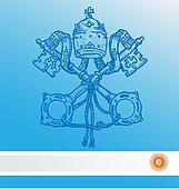 vatican symbol with argentina flag