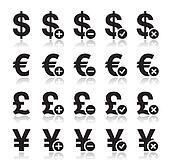 Currency icon - dollar, euro, pound