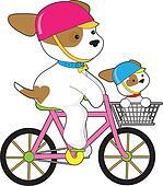 Cute Puppy on Bike
