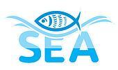 Sea and fish symbol