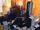 Armageddon  scene in city
