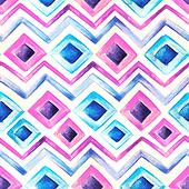 Watercolor blue and pink  pattern
