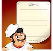Chef with Blank Menu