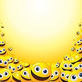 Background with heap of Yellow Smileys.