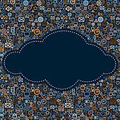 Social Media Icons Cloud