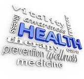 Health Care Collage Words Medicine Background