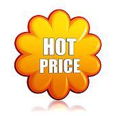 hot price orange flower label