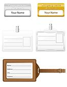 identification card set icons