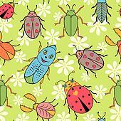 cute colorful beetles