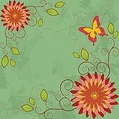 Flower vintage background.