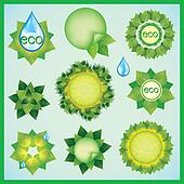 Set of Eco design elements