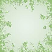 green branches background