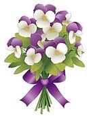 Johnny Jump Ups, Flower Bouquet