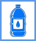 icon with water drop and bottle