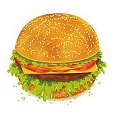 Tasty hamburger isolated