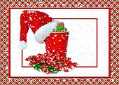Santa hat on red party cup