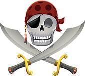 Pirate Skull Swords