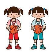 Girl to play basketball