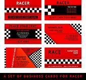 Business card driver race - third set
