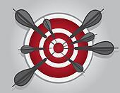 Bullseye Many Dark Darts