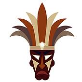 Tribal mask on a white background
