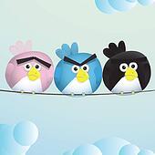 Birds Angry Sad espression