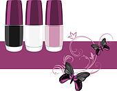 Three nail polish. Banner