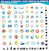 Collection of 90 more company logos design