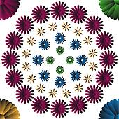Four colors flowers