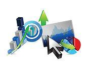 Business financial economy concept