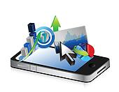 phone Business financial economy concept