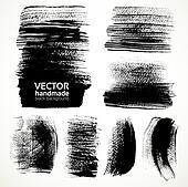 Textured brush strokes