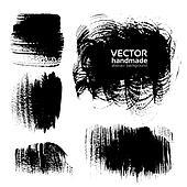 Black brush strokes on white