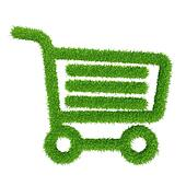 green grass shopping basket