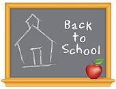 Blackboard, Schoolhouse, Apple