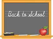 Blackboard, Back to School, Apple
