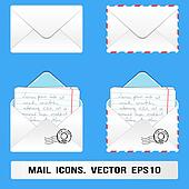 E Mail Icons set. Vector, eps10