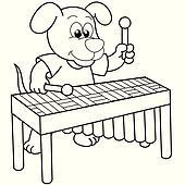Hund Spielt Vibraphon