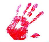 Hand red print