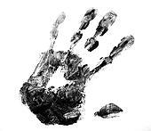 Hand black print