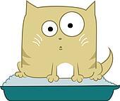 Cat in toilet