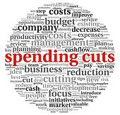 Spending cuts concept