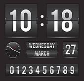 retro flip clock with dual date