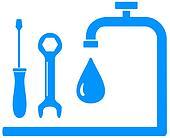 blue sign plumbing work
