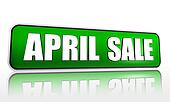 April sale green banner